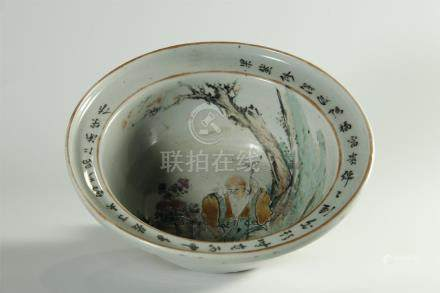 19th C. famille rose large bowl