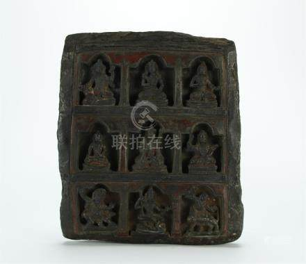 18/19th C. black stone carved specimen, Tibet
