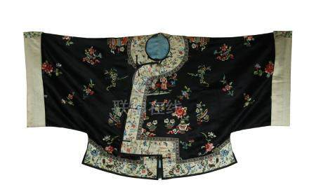 19th C. silk embroidered lady's robe
