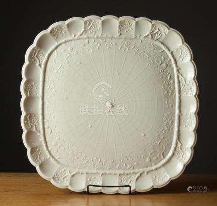 """BELLEEK PARIAN PORCELAIN """"THORN"""" TRAY, #D763, with"""