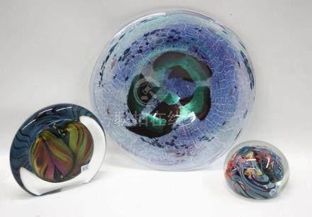 THREE CONTEMPORARY ART GLASS ARTICLES, including 2