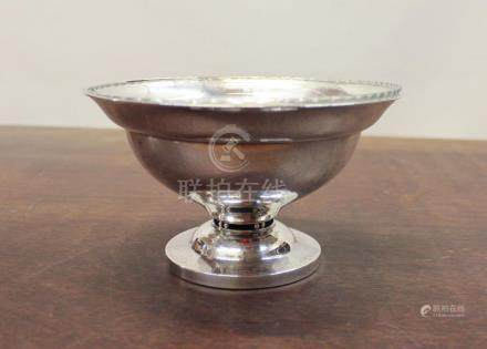 GEORG JENSEN STERLING SILVER FOOTED BOWL WITH GLAS