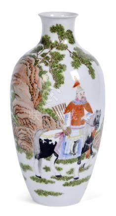 琺瑯彩狩獵圖瓶