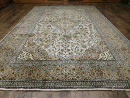 PERSIAN NAIN HABIBIAN RUG – 6.6 x 9.10 - ANTIQUE 70+ YEARS O