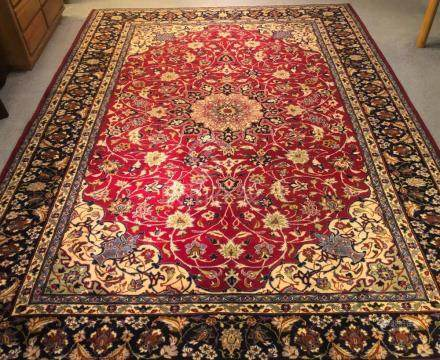 PERSIAN ANTIQUE ISFAHAN RUG – 9.3 x 12.1 - 70+YRS (1940s)