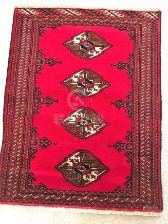 PERSIAN YAMUD BOKHARA RUG – 2.9 x 3.6 - 80+ YRS OLD (1930s)