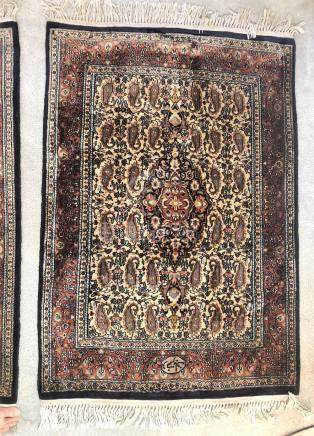 INDO-PERSIA TABRIZ SIGNED RUGS – 3.1 x 4.6 – MATCHING SET OF