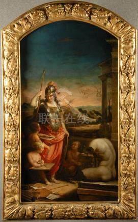 COSTANZI PLACIDO (Attribuibile) - Roma, 1702-1759. Dipinto olio su tela raff. 'MINERVA DEA DELL