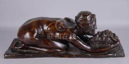 DE VEROLI CARLO - Nato a Carrara nel 1890. Morto a Napoli nel 1938. Scultura in bronzo a cera p