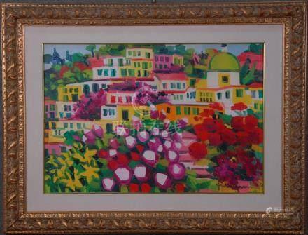 FACCINCANI ATHOS - Nato a Peschiera del Garda (Brescia) nel 1951. Dipinto olio su tela raff. 'P