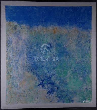 SAVINIO RUGGERO - Nato a Torino nel 1934. Dipinto olio su tela intitolato 'PRIMAVERA', firmato