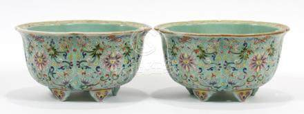 CHINESE, FOOTED PORCELAIN PLANTERS