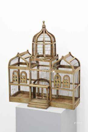 Cage à oiseaux (Ht.80 x 70cm)