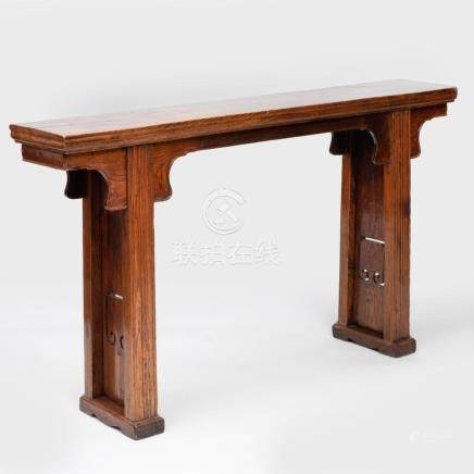 Chinese Narrow Elm Altar Table
