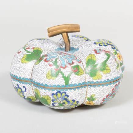 Chinese Cloisonné Enamel Gourd Shaped Box
