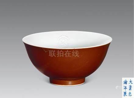 清 醬釉碗