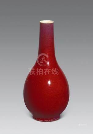 清 紅釉瞻瓶