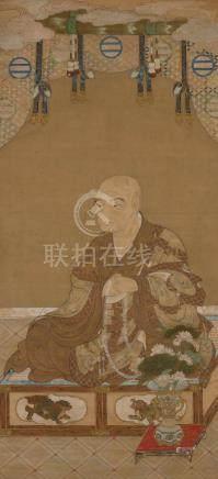 Japanese School Seated priest