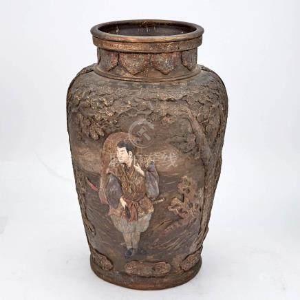 Chinese Glazed Pottery Vase