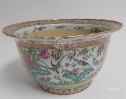 19th c. Famille Rose Large Jardiniere