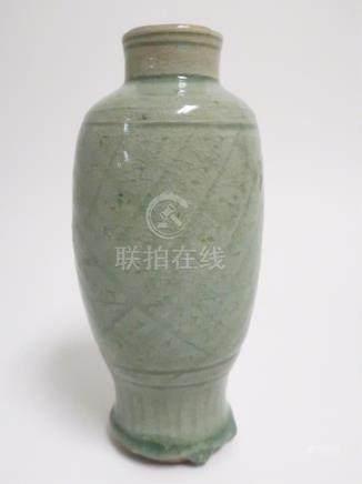 Chinese Celadon Pottery Vase