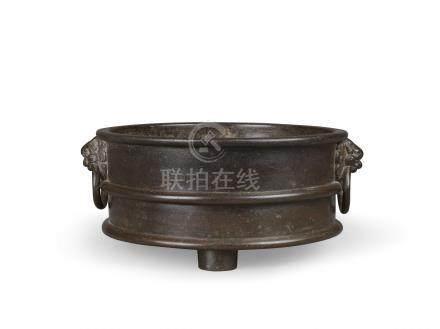 明宣德 銅三元太極三足爐