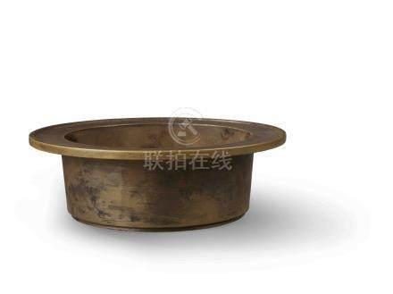 明 銅折沿洗式爐