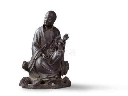 明 鳩摩羅多尊者坐像