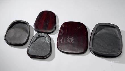 马蹄形端石砚 (三方)