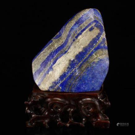 Natural Lapis Lazuli Original Stone Statue