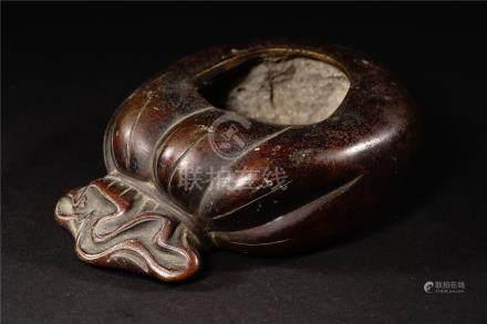 19th 古銅包袱水盂