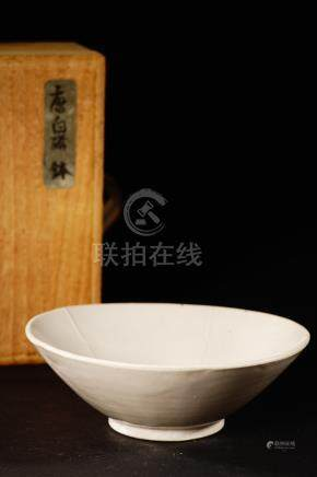 10th 唐白瓷缽(附供箱)