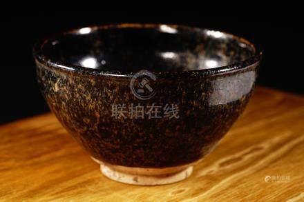 18th 天目釉 古瀨戶茶碗