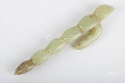 Chinese Yellow Jade Hook