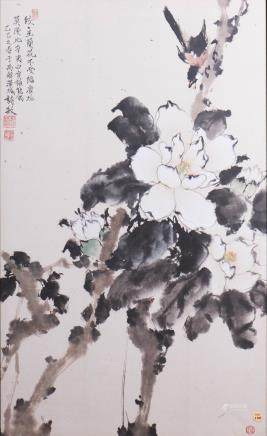 LIU SHIMIN (20TH CENTURY), FLOWER