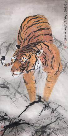 ZHAO SHAOANG (ATTRIBUTED TO, 1905-1998), TIGER