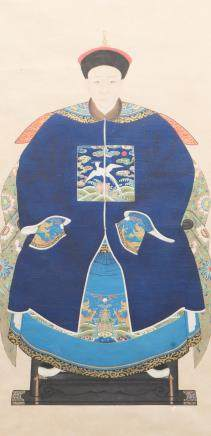 ANONYMOUS (QING DYNASTY), THE PORTRAIT OF AN OFFICIAL