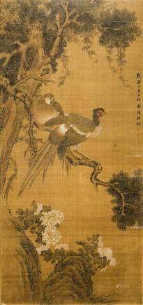 CHEN QUAN (1682-1760), CHINESE PAINTING FLOWER & BIRD
