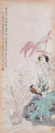 YU FEIAN (ATTRIBUTED TO, 1899-1959), BIRD AND FLOWER