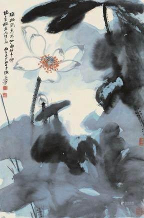 ZHANG DAQIAN ( 1899 - 1983), LOTUS