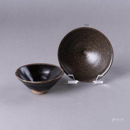 A GROUP OF TWO JIAN WARE TEA BOWLS