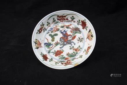 A CHINESE WUCAI ZHANG TIANSHI DISH, WANLI PERIOD