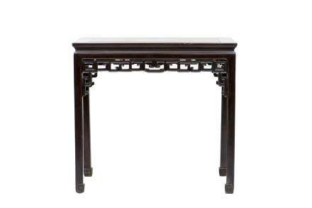 A HARDWOOD SIDE TABLE