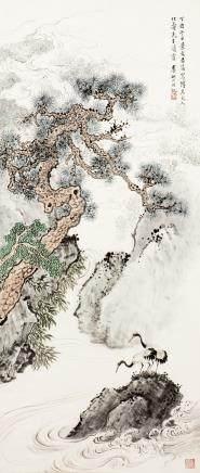 LI YANSHAN (1898-1961), CRANES AND PINE