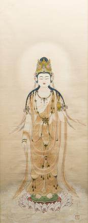 ANONYMOUS, A CHINESE PAINTING OF GUANYIN
