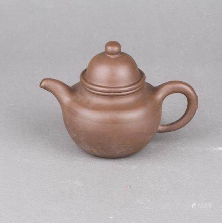 A ZISHA TEAPOT AND COVER