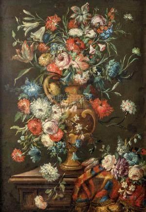 Gaspar LOPEZ detto Dei Fiori (Naples 1650 - Florence 1720) (attribué à)