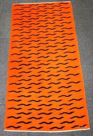 Tibetan Wool Tiger Skin Carpet