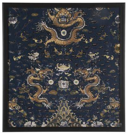 Chinese Embroidered Dragon Panel