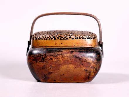 Zhang Mingqi Chinese Late Ming Bronze Hand-Warmer